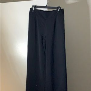 Wide leg mid rise trousers